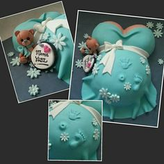 Its a boy! Pregnant belly cake.