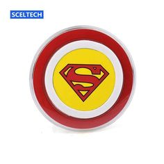 Sceltech Superman Version Qi Wireless Charger Charging Pad Mobile Phone Adapter Dock Station For
