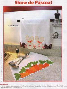 Pano de prato de páscoa com molde Patch Quilt, Applique Quilts, Applique Designs, Quilting Designs, Quilting Ideas, Sewing Crafts, Sewing Projects, Place Mats Quilted, Felt Fabric