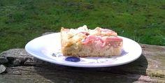 Maak een lekkere rabarberkuchen, naar Duits recept, plaatcake met rabarber. #rabarber #duitsrecept #rabarberkuchen