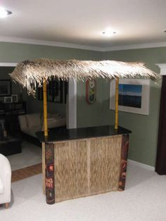 how to build your own tiki bar for cheap good idea pinterest