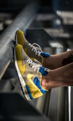 best authentic f6fc9 1df88 Nike Air Epic YellowBlue - selver can