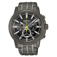 Gray-Ion Finish Seiko SSC391 Men's Solar Chronograph Watch
