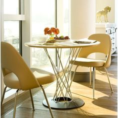 Knoll ® Noguchi Cyclone™ 3 Piece Dining Table with Saarinen Executive Chairs   AllModern