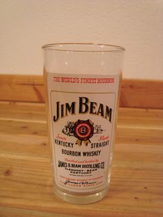 Vintage Jim Beam Kentucky Straight Bourbon Whiskey Bar Glass   eBay