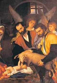 Lorenzo Lotto - Die Anbetung der Hirten