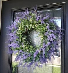 Lavender and Wildflower Year Round Wreath for Front Door, Spring and Summer Entry Decor for Home Poppy Wreath, Floral Wreath, Greenery Wreath, Grapevine Wreath, Wreaths For Front Door, Door Wreaths, Lavender Wreath, Magnolia Wreath, Orange Poppy