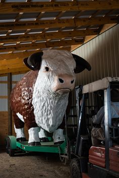 "A lot of bull? Steve Newsom steps forward as owner of the original ""Staley's Bull."" The mascot installed Thursday at Fratellis steakhouse was made by same company Wake Forest Campus, The Fratellis, Farm Day, Chicago Shows, Winston Salem, Wooden Fence, Local News, Will Smith, Thursday"