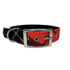 George SF Red Plaid Dog Collar http://nicedogcollar.com/store/category/george-sf-red-plaid-dog-collar/