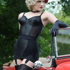 Lingerie:  'Glamour' Girdle by What Katie Did in black