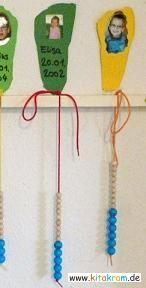 Montessori Geburtstagskalender:  Jahres- und Monatsperlen veranschaulichen das genaue Alter und vermitteln den Kindern gleichzeitig ein Gefühl von Monaten