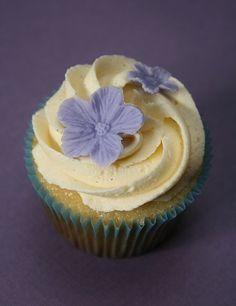 Vanilla with vanilla bean buttercream cupcake