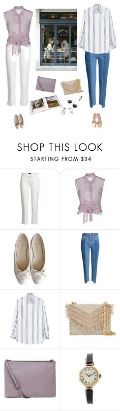 """""""Lunch dates with my mom"""" by thepassingsideshow ❤ liked on Polyvore featuring Joseph, Alberta Ferretti, Chanel, MANGO, Cynthia Rowley, Kurt Geiger and Rolex"""