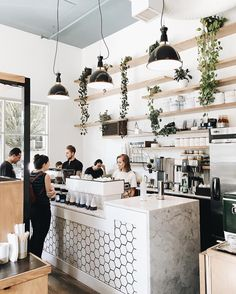 Waterfall For Home Decoration Key: 3773158646 design coffee shop Bakery Interior, Coffee Shop Interior Design, Coffee Shop Design, Cafe Design, Terrace Design, Industrial Coffee Shop, Cozy Coffee Shop, Coffee Shops, Waterfall House