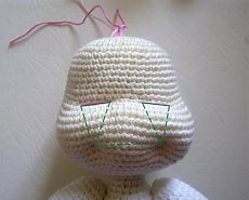 nose shaping for amigurumi crochet doll face Crochet Amigurumi, Amigurumi Patterns, Amigurumi Doll, Crochet Dolls, Crochet Bunny Pattern, Easy Crochet Patterns, Crochet Eyes, Free Crochet, Crochet Crafts