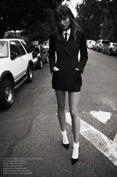 Andreea Diaconu by Glen Luchford Modern Teddy Girl Look Fashion, High Fashion, Womens Fashion, Daily Fashion, Fashion Tag, Fashion Socks, Fashion Goth, Fashion Trends, Mode Style