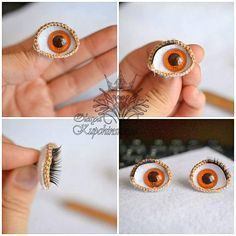 Crochet doll eyes stitches ideas for 2019 Amigurumi Patterns, Amigurumi Doll, Doll Patterns, Crochet Patterns, Amigurumi Tutorial, Knitted Dolls, Crochet Dolls, Diy Doll Eyes, Crochet Eyes