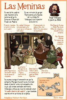 Las Meninas - teaching Spanish through art Spanish Basics, Ap Spanish, Spanish Culture, Spanish Lessons, How To Speak Spanish, Spanish Classroom, Teaching Spanish, Art Espagnole, High School Spanish