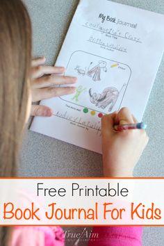 Free printable book journal for kids