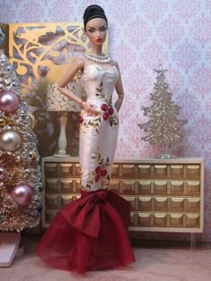 Christmas Rose Ball Gown by Bellissimacouture on Etsy