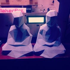 Two decimated Buddhas #makerbot