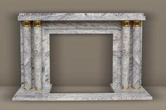 """Modèle de style Art Déco """" Paquebot"""" en marbre Lilas du Rajasthan."""