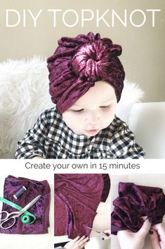 Diy baby turban tutorial ideas for 2019 Baby Sewing Projects, Diy Couture, Diy Headband, Knotted Headband, Baby Headband Tutorial, Turban Headbands, Diy Baby Headbands No Sew Tutorials, Flower Headbands, Turban Hat