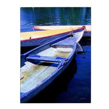 """""""Bois de Boulogne Boats"""" by Kathy Yates Painting Print on Wrapped Canvas"""