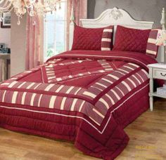 Quilted Regency Patchwork Burgundy / Wine Bedspread / Comforter Set Throw plus Pillowshams King Size Bed by Intimates, http://www.amazon.co.uk/dp/B00HGEHU24/ref=cm_sw_r_pi_dp_KPELtb19E3QFC