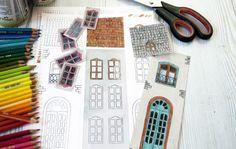 diy free printables create illustrated milk houses