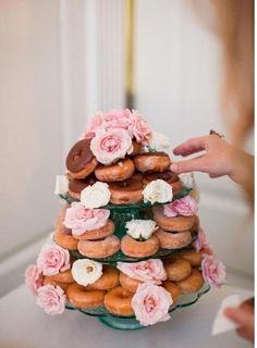 Donut tower... always a good idea
