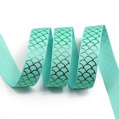 Midi Ribbon Green Color Mermaid Scale Print Ribbon 7/8' 10 Yds/Pack Aqua Color For Winter Valentine Day Decorate Hair Bows Hair Clip Making DIY Crafts Gift Home Party Decorate * See this great item.