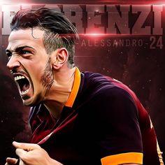 Let's start the week off with some #RomaArt of @alessandroflorenzi by @romaclubindo #asroma #forzaroma #daje #giallorossi #florenzi #trigoria #alessandroflorenzi #roma - officialasroma