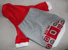 NEW Ohio State Buckeyes Dog Hoodie in Medium by RagtheDog on Etsy, $16.00