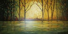 Golden Woods Original Oil Painting Made With by ModernPaletteArt, $250.00