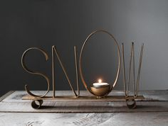 Snow Candle Holder //