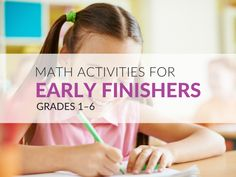 37 Math Early Finisher Activities for Elementary Students Math Early Finishers, Early Finishers Activities, Math Activities, Math Resources, Education Quotes For Teachers, Quotes For Students, Elementary Education, Super Healthy Recipes, Healthy Foods To Eat