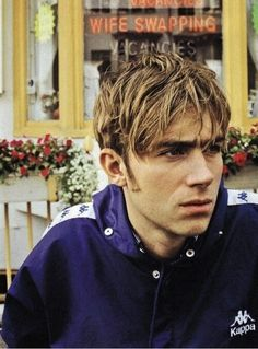 damon albarn / kappa / navy blue and white / windbreaker / blur / 90s