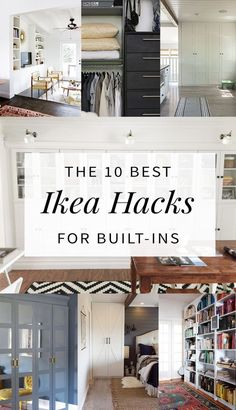 10 Built-In Ikea Hacks To Make Your Jaw Drop The best built in Ikea hacks from around the web for wardrobes, shelving, and bookcases. You won't believe these transformations! Ikea Hacks, Diy Hacks, Billy Ikea, Ikea Furniture, Furniture Dolly, Furniture Online, Office Furniture, Home Hacks, My Living Room