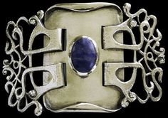 British Arts & Crafts 1900 Oliver Baker Buckle for Liberty & Co.    http://www.tademagallery.com/Ex.php?pNum=All#
