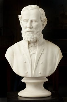 """General Robert E. Lee is marked """"J&TB"""" for James and Thomas Bevington of Hanley, Staffordshire. James (b. 1843) and Thomas (b. 1845) were the sons of Samuel Bevington (1808-1863) who sired a family of prolific potters; between the father and seven sons, the family owned or worked 12 potteries in Hanley. The partnership of James and Thomas lasted from the death of their father in 1863 until 1876"""