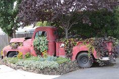Vintage truck planter #Planter, #Truck, #Vintage
