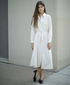 Off White Shirt Dress