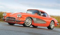 1959 Chevrolet Corvette Orange Plus
