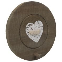 kapstok knoop rond hout ca.20cm div.var