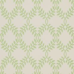 Sanderson -Hornfleur - Leaf Green/cream