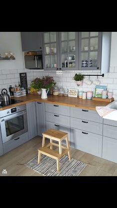 Home Decor Kitchen .Home Decor Kitchen Kitchen Room Design, Kitchen Cabinet Design, Home Decor Kitchen, Interior Design Kitchen, New Kitchen, Home Kitchens, Kitchen Cabinets, Kitchen Ideas, Gray Cabinets