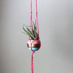 DIY Macramê - Suporte para Vasos e Mais 30 Inspirações - Macramê - Suporte para Vasos - Suporte com Cordas - Vasinhos na Corda - DIY - Faça Você Mesmo - #BlogDecostore