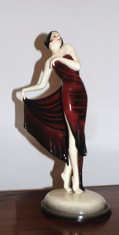 Art Deco GOLDSCHEIDER Spanish Shawl Dancer Josef Lorenzl early 30's 46 cm