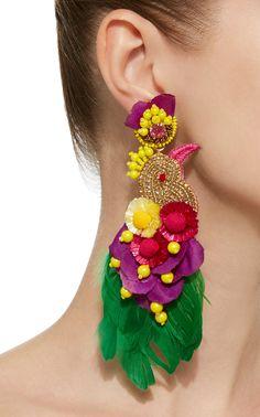 Cora Silk Cord Heart Earrings by Rebecca de Ravenel Long Tassel Earrings, Tassel Jewelry, Textile Jewelry, Fabric Jewelry, Statement Jewelry, Beaded Earrings, Earrings Handmade, Jewelery, Crochet Earrings